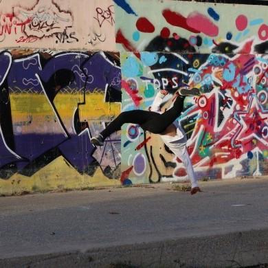 Réalisation d'un graff géant avec le collectif YEP
